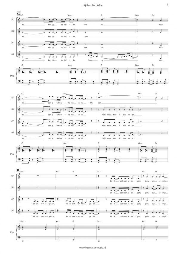 E01 Jij Bent De Liefde (SSAA + piano) – example 5